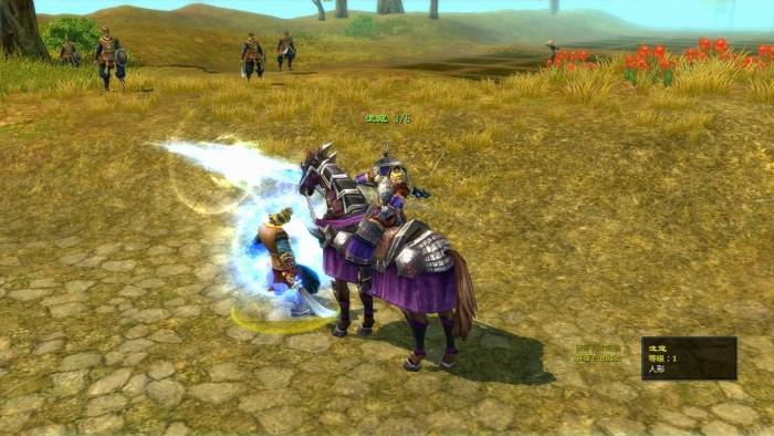 線上遊戲-爭龍傳online擊殺敵人精緻的攻擊畫面