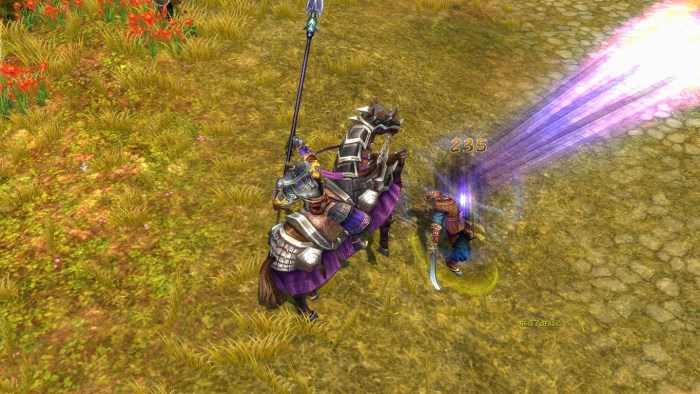 線上遊戲-爭龍傳online使用技能擊殺敵人