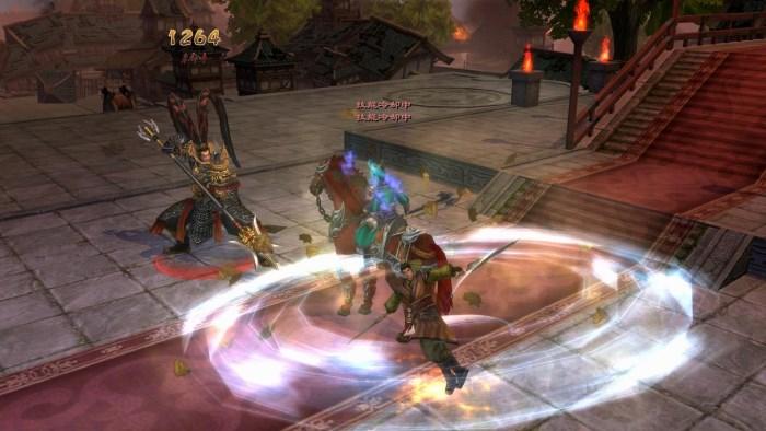 線上遊戲-爭龍傳角色攻擊技能華麗精緻
