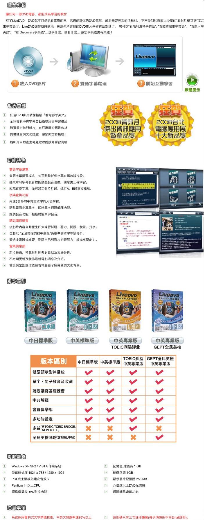 LiveDVD語言學習軟體
