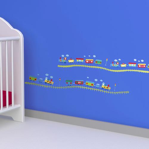 《DALI》創意無痕壁貼:快樂小火車