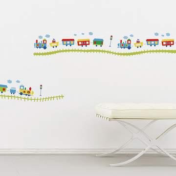 《DALI》創意無痕壁貼◆快樂小火車