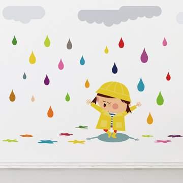《DALI》創意無痕壁貼◆快樂小雨