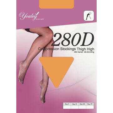280 Den 彈性大腿襪 - 膚色(二雙入)