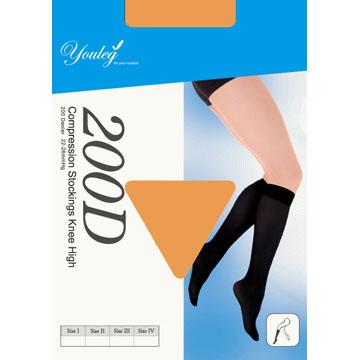 200 Den 彈性小腿襪 - 膚色(四雙入)
