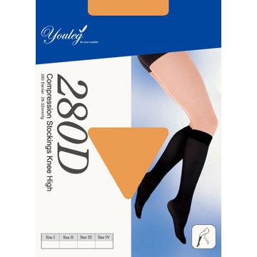 280 Den 彈性小腿襪 - 膚色(四雙入)