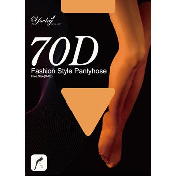 70 Den 時尚褲襪 - 膚色(一打入)