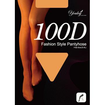 100 Den 時尚褲襪 - 膚色(八雙入)