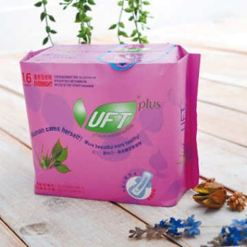 UFT 天然草本衛生棉-安心夜用型*15包