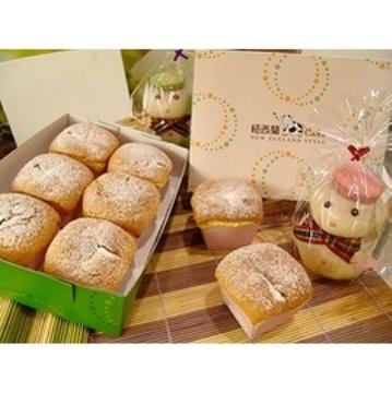 一森手工烘焙坊☆紐西蘭乳牛cake6入☆禮盒~雪綿細滑內餡好迷人(冷凍猶如冰淇淋般誘人)