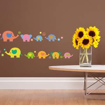 《DALI》創意無痕壁貼◆七彩大象
