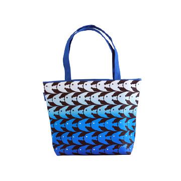 【Coplay設計包】錯視魚鳥藍|托特包