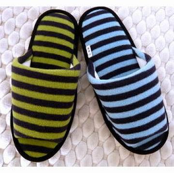(e鞋院)★冬急著e★【自由線條】毛巾布舒適室內拖鞋