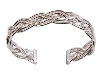 下殺5折!! 女性飾品-經典時尚白金手環★獨特麻花繞設計造型~尺寸可調整
