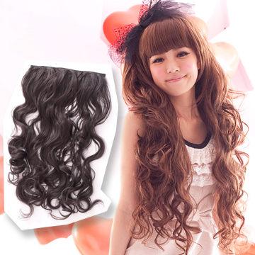 【MF021】耐熱纖維-公主系大波浪捲髮接髮片