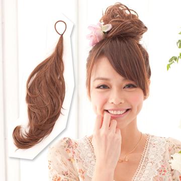 【MT010】多用途鐵絲髮條可當馬尾包包頭