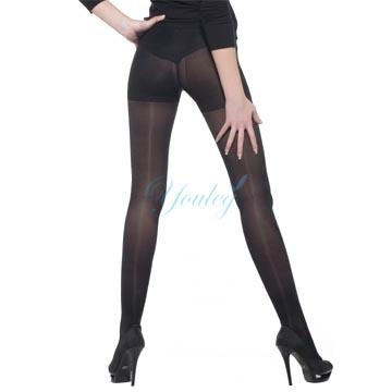 140 Den 彈性褲襪 - 黑色(二雙入)