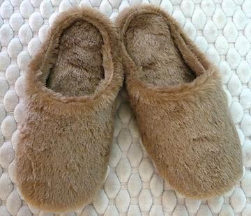 (e鞋院)【 暖烘烘長毛麂皮】舒適室內拖鞋 ★限量8折★