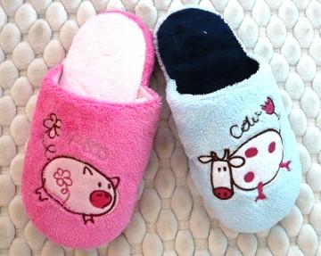 (e鞋院)【豬牛一家親】兒童舒適室內拖鞋