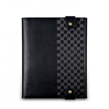 New iPad-卷軸式對開皮套-玄黑色