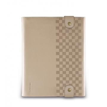 New iPad-卷軸式對開皮套-米駝色