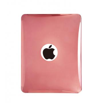 iPad1-半透明金屬光澤背蓋-銀紅色