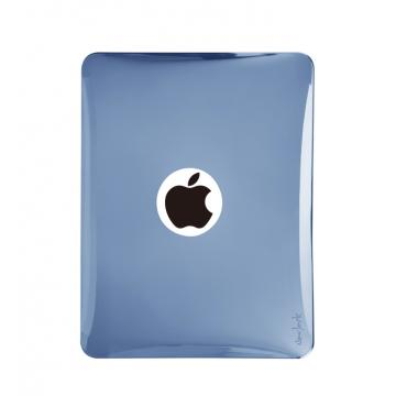 iPad1-半透明金屬光澤背蓋-銀藍色
