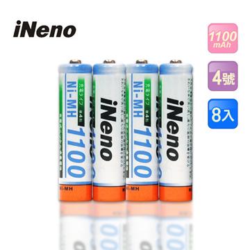 日本技研iNeno艾耐諾4號高容量鎳氫充電電池8入