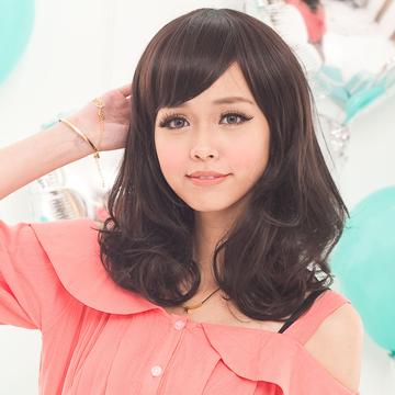 【MX049】都會女郎的時尚~層次微捲即肩髮型