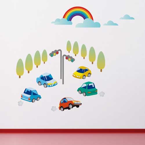 《DALI》創意無痕壁貼:快樂小汽車