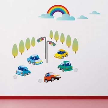 《DALI》創意無痕壁貼◆ 快樂小汽車