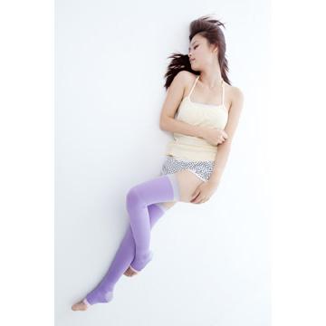 YOULEG 夜寢專用長統美腿襪 - 紫羅蘭色(二雙入)
