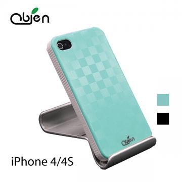 OBIEN iPhone4/4S 棋盤圖樣背蓋保護殼組