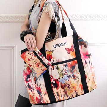 【Coplay設計包】油彩畫花|旅行袋