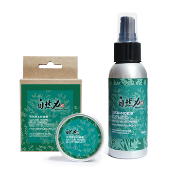 自然力 天然草本防蚊組(防蚊液+舒緩膏 )