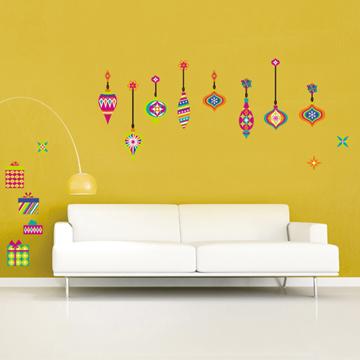 《DALI》創意無痕壁貼◆彩色聖誕掛飾