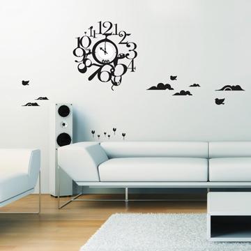 【Smart Design】創意無痕壁貼◆動物公園 8色可選(含時鐘機芯)