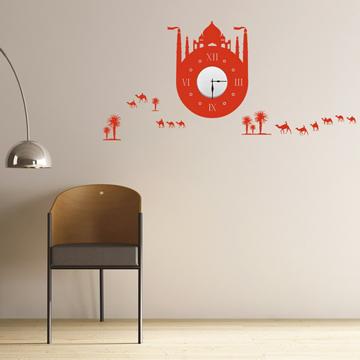 【Smart Design】創意無痕壁貼◆土耳其建築 8色可選(含時鐘機芯)