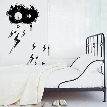 【Smart Design】創意無痕壁貼◆天氣 8色可選(含時鐘機芯)