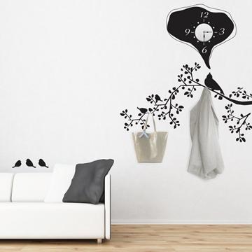 【Smart Design】創意無痕壁貼◆衣架鐘 8色可選(含時鐘機芯)