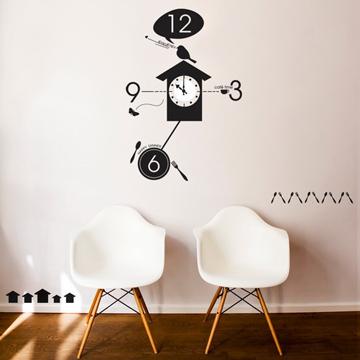 【Smart Design】創意無痕壁貼◆咕咕鐘 8色可選(含時鐘機芯)