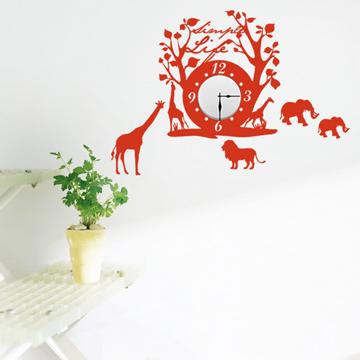 【Smart Design】創意無痕壁貼◆草原 8色可選(含時鐘機芯)