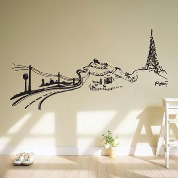 【Smart Design】創意無痕壁貼◆鄉村