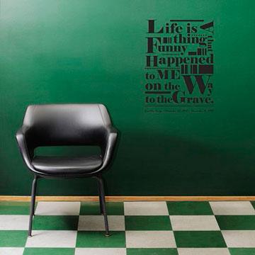 【Smart Design】創意無痕壁貼◆生命箴言 8色可選