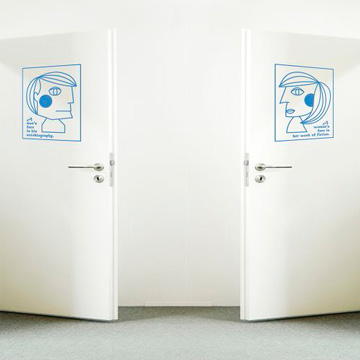 【Smart Design】創意無痕壁貼◆男人女人 8色可選