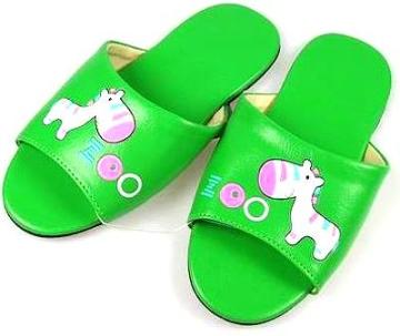 (e鞋院)★童鞋會★[花漾斑馬靜音]無聲兒童室內拖鞋