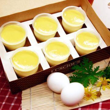 <自然捲烘焙>法式焦糖布丁(六入)