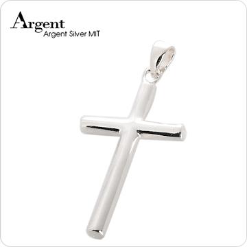 ARGENT銀飾 十字架系列 圓柱十字架(大) 純銀項鍊
