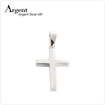 ARGENT銀飾 十字架系列 方柱十字架(中) 純銀項鍊