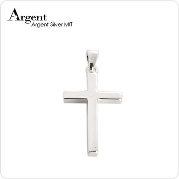 ARGENT銀飾 十字架系列 方柱十字架(大) 純銀項鍊
